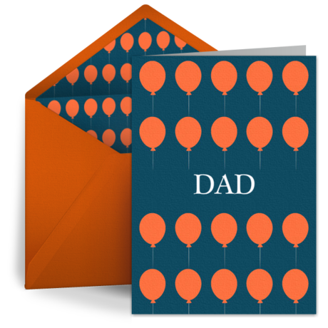 Birthday Balloons For Dad From Punchbowl E Cards Pinterest Cards