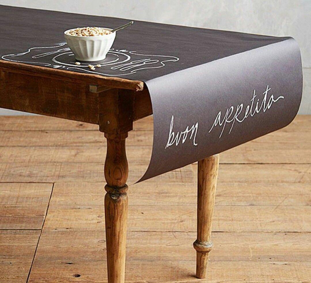 Chalkboard paper tablecloth