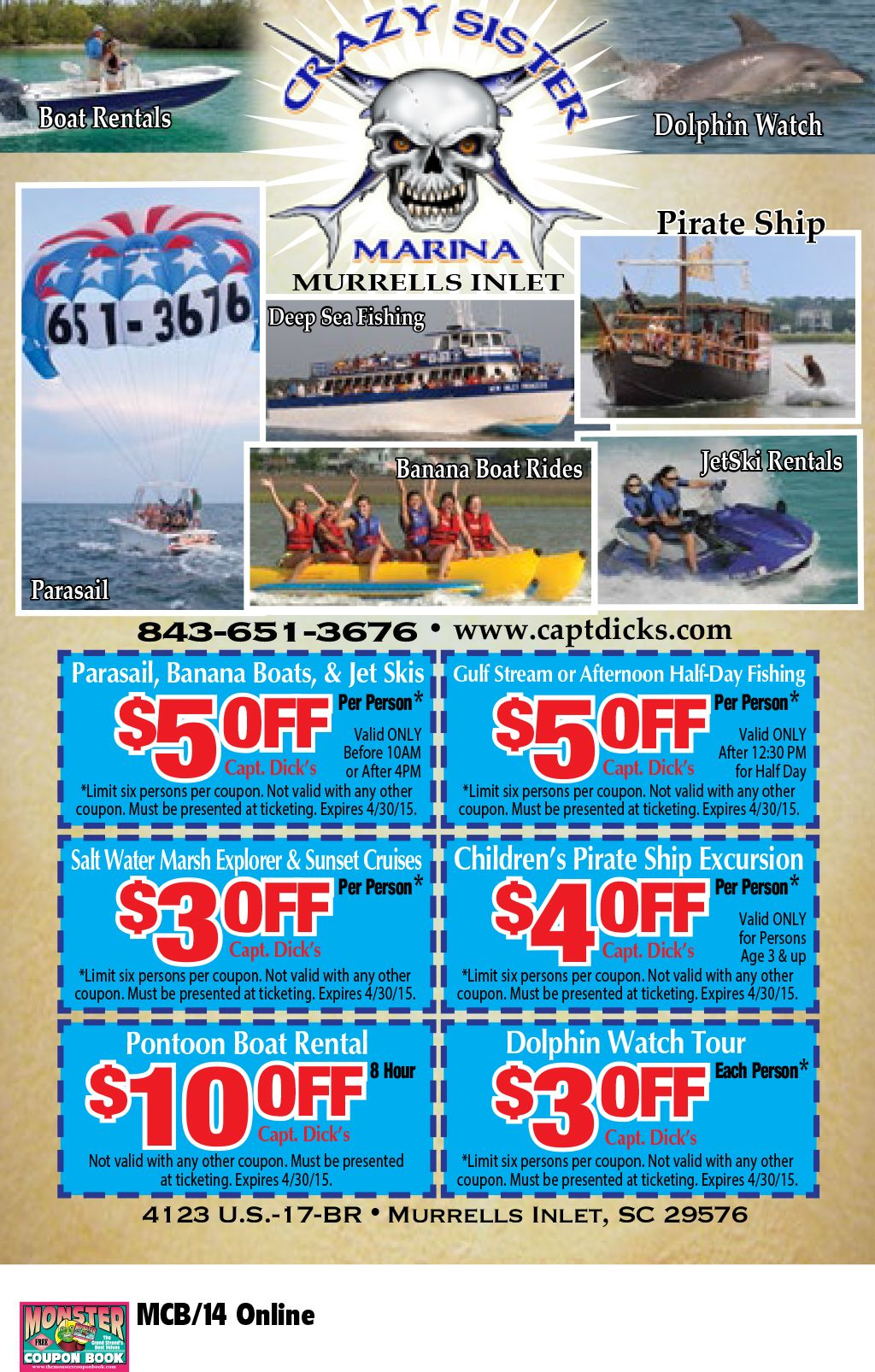 Crazy Sister Marina   Myrtle Beach Resorts   COUPONS for Myrtle ...
