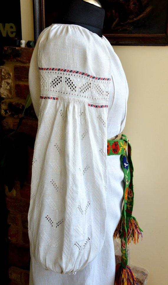 616634a8d56 Lovely beautiful princess Linen Embroidered dressVintage Dress Ukrainian  Vyshyvanka Handmade sorochk