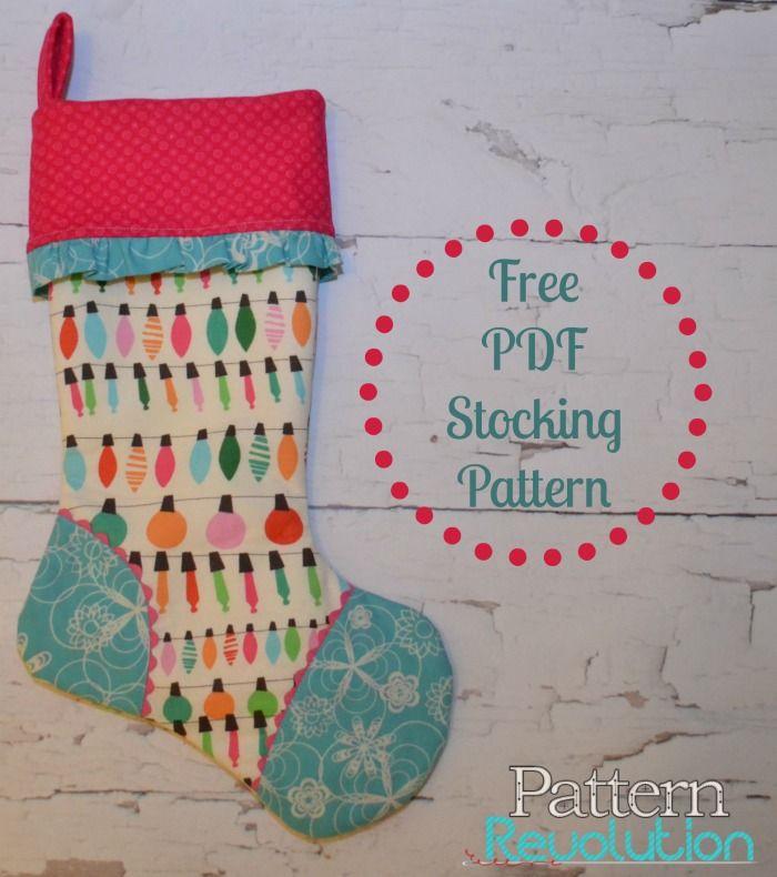 stocking tutorial weihnachtsdeko pinterest weihnachten n hen weihnachten und nikolausstiefel. Black Bedroom Furniture Sets. Home Design Ideas