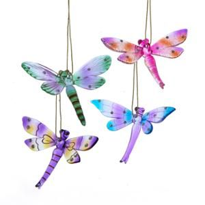 Pack of 12 Glass Dragonfly with Gem Christmas Ornaments 3.25 ...