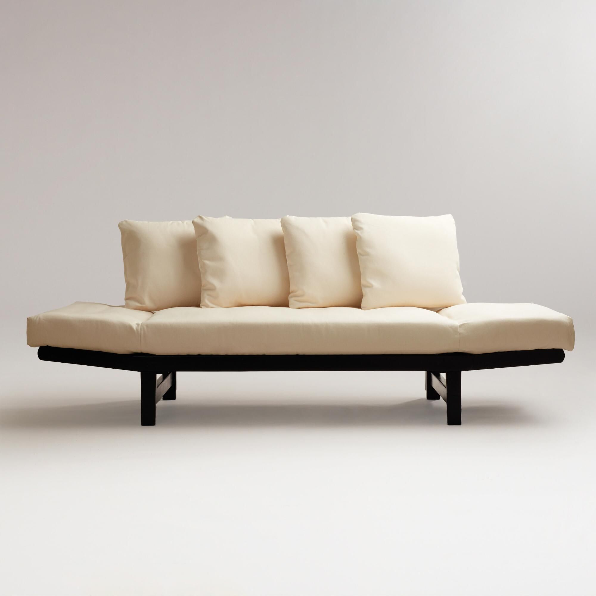 Studio Day Sofa Brown White Wood By World Market A