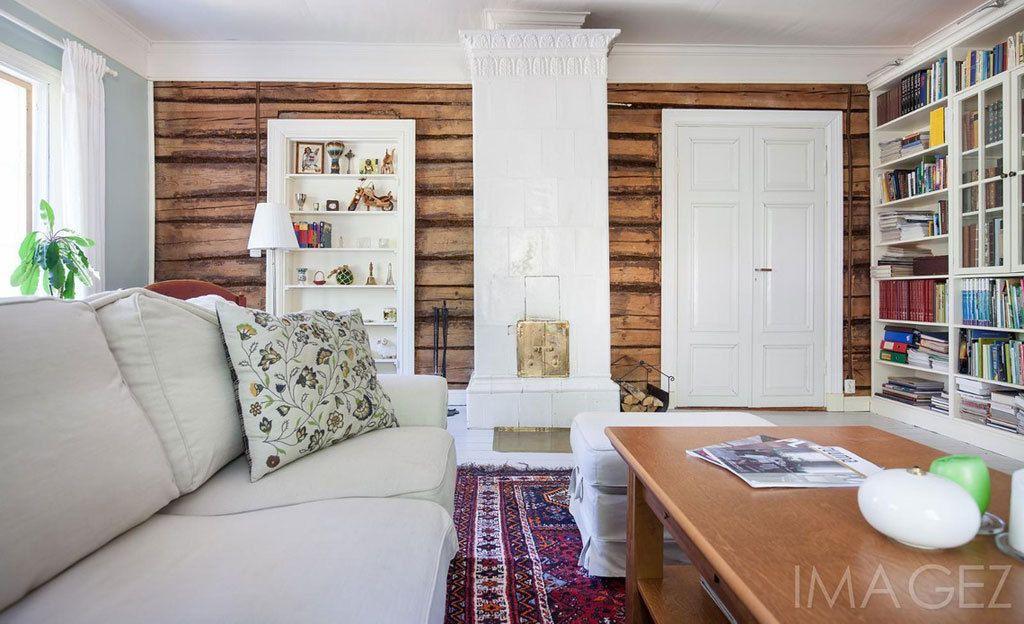 Paljaalle hirrelle jätetty seinä on yksi sisustustrendi. Ja senkin voi toteuttaa monella tavalla.