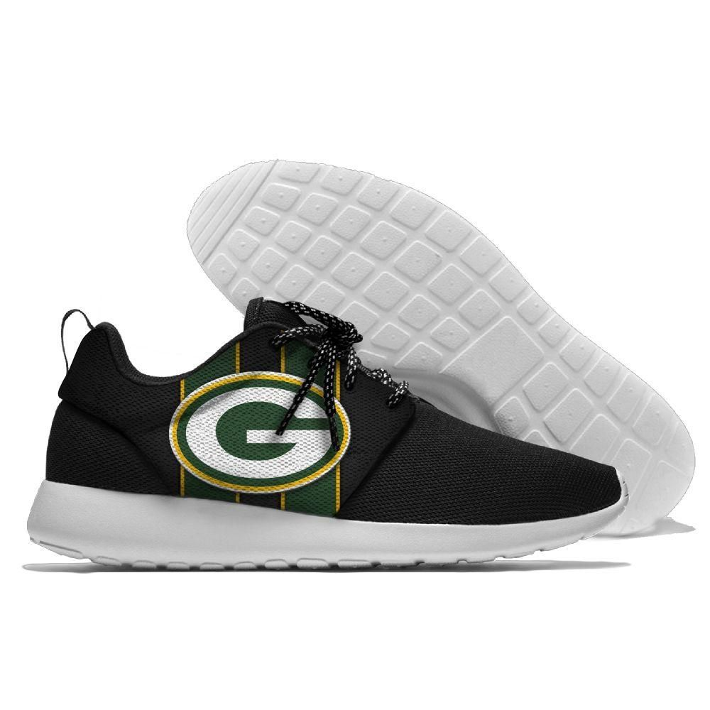 Green Bay Packers Design Nfl Breathable Tennis Shoes Green Bay Packers Shoes Nfl Shoes American Football Shoes