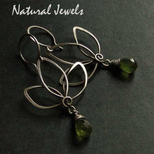 Green Lotus 925 Sterling silver Earrings by NaturalJewels, €29.50 ...
