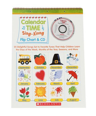 Another great find on #zulily! Calendar Time Sing-Along Flip Chart & CD #zulilyfinds