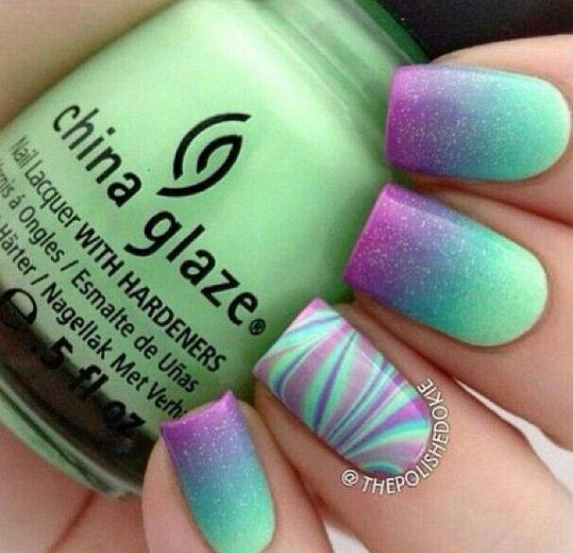 Prom nails? But purple and blue | Uñas | Pinterest | Diseños de uñas ...