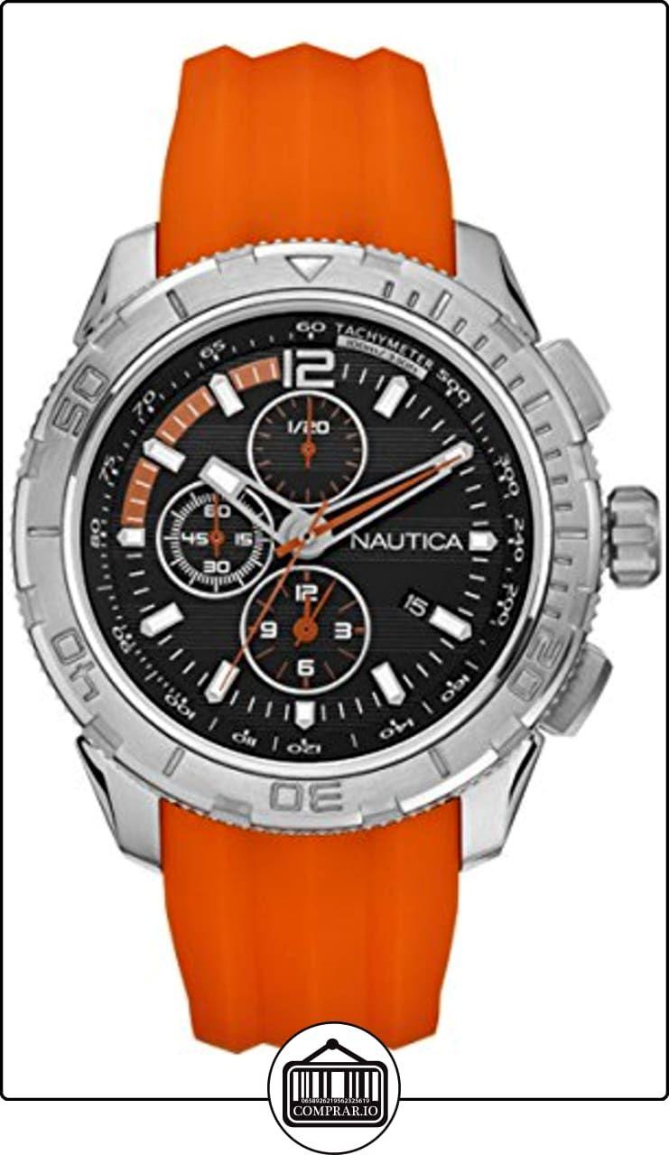 Nautica A18723g Reloj De Pulsera Hombre Silicona Color