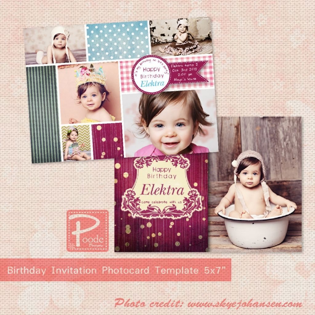 Check Set Of Birthday Card Template Photoshop Birthday Invitations Girl 1st Birthday Invitations First Birthday Invitations