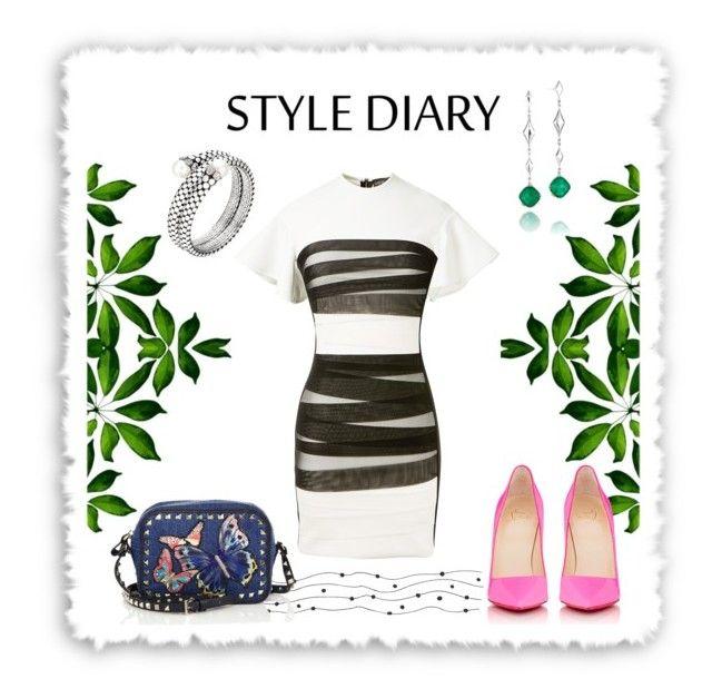 """Style Diary"" by scaniatjejen on Polyvore featuring David Koma, Tacori, Christian Louboutin, Valentino and John Hardy"