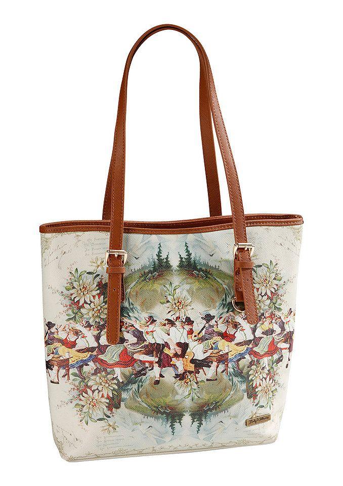 de4b2b13ff900 Trachtentasche mit Rosenmuster
