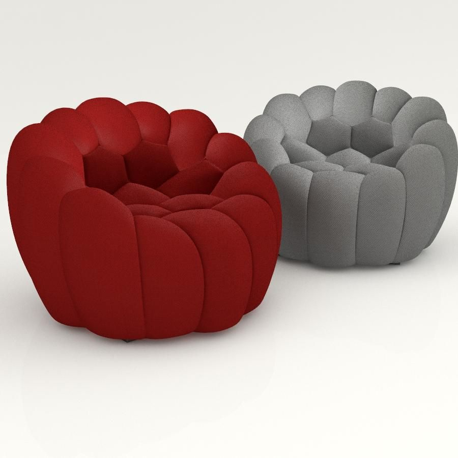 Beautiful 3D Models Furniture Seats Roche Bobois Bubble Armchair 2