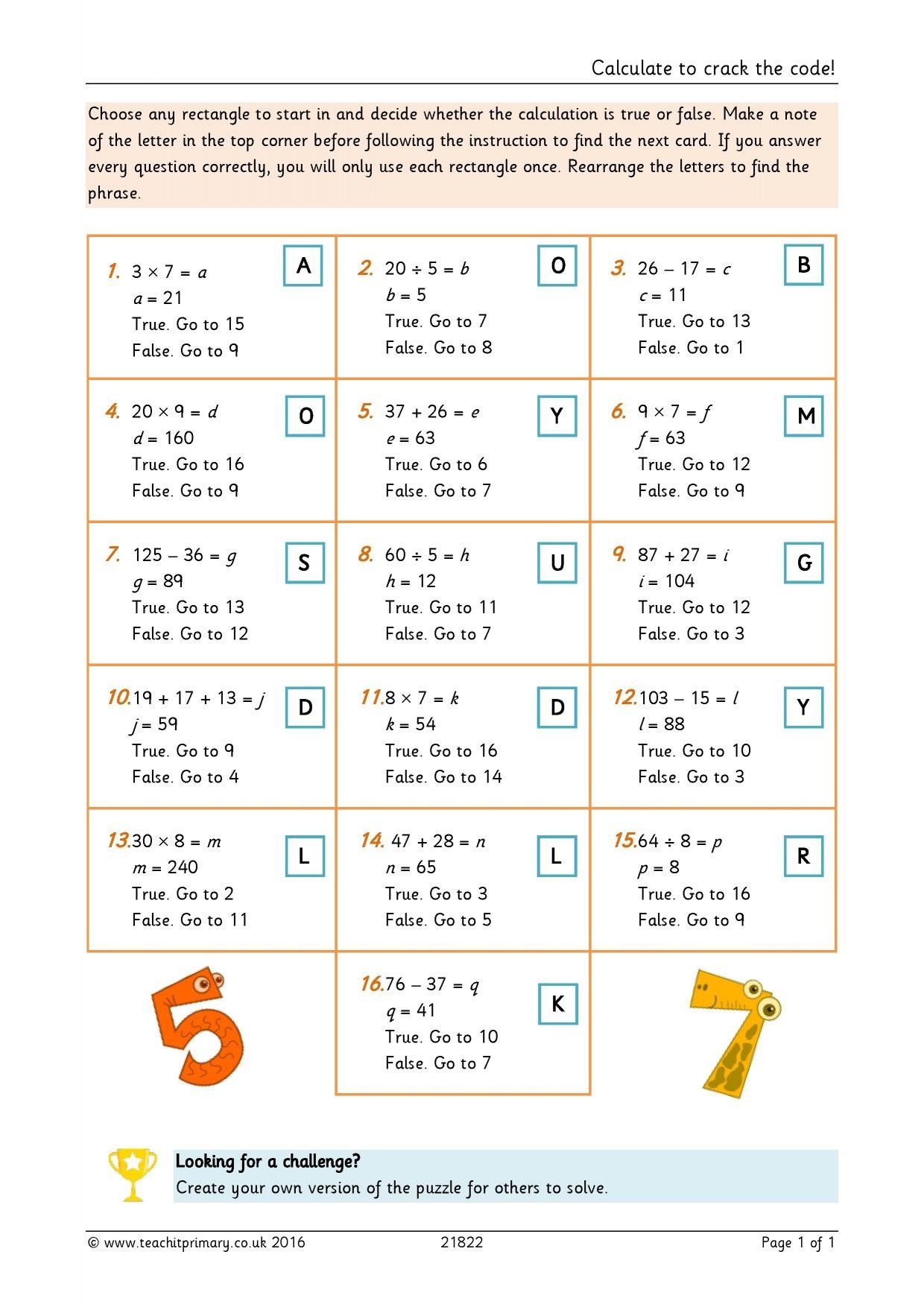 Pin On Printable Math Worksheet For Kids