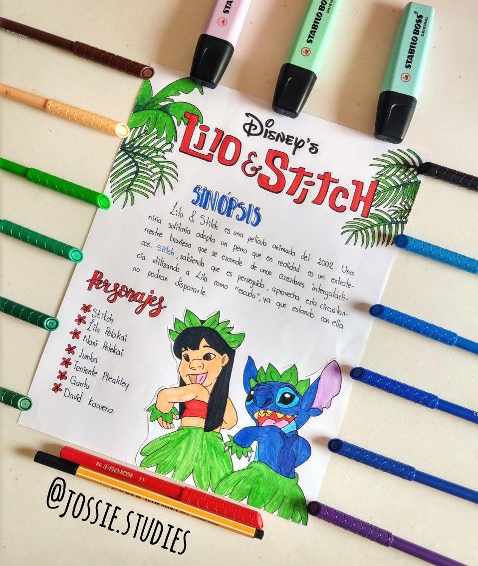 Lilo Stitch Titulos Bonitos Para Apuntes Libreta De Apuntes Apuntes