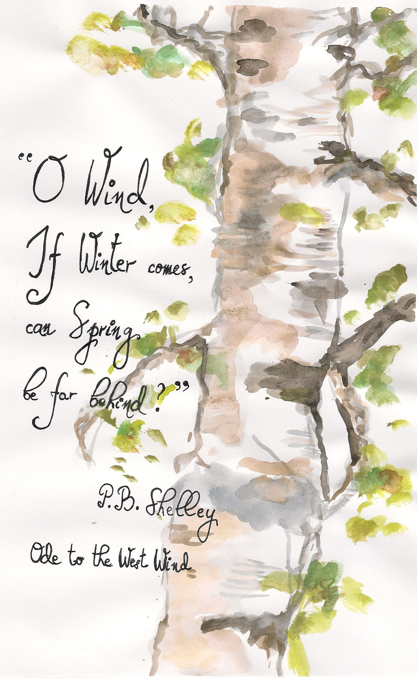 Percy Bysshe Shelley Ode To The West Wind Bookquote Quote Poem Autumn Illustration Quotes