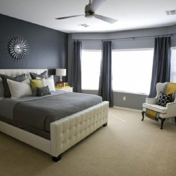 Gray Walls Cream Carpet With Images Gray Master Bedroom