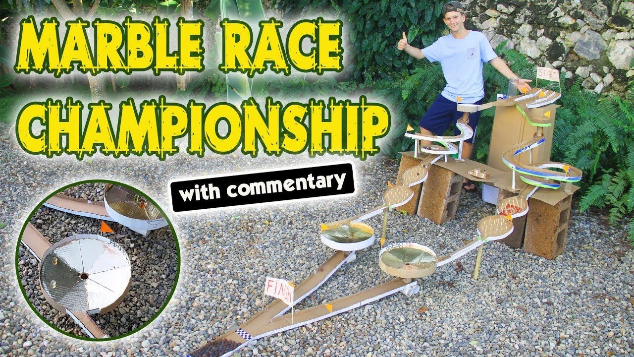 Cardboard Marble Race Track Marble Run Tournament with