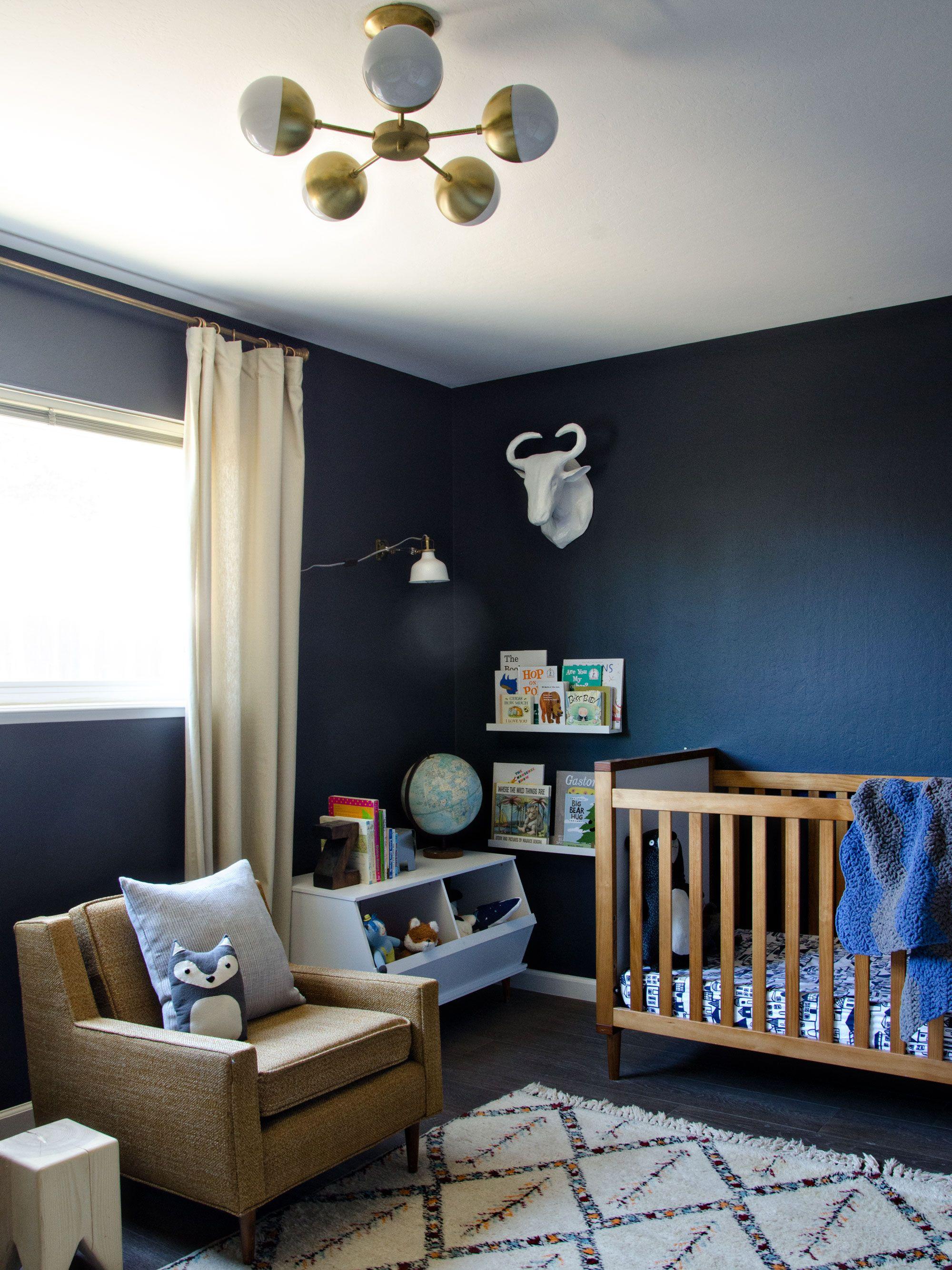 A Modern Navy Boy Nursery
