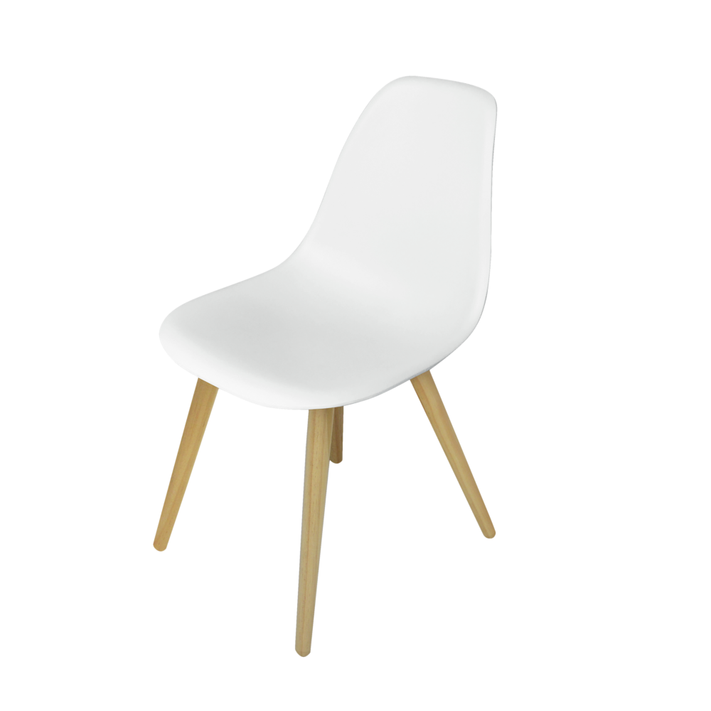 Assise En Polypropylene Coloris Blanc Pietement En Aluminiu