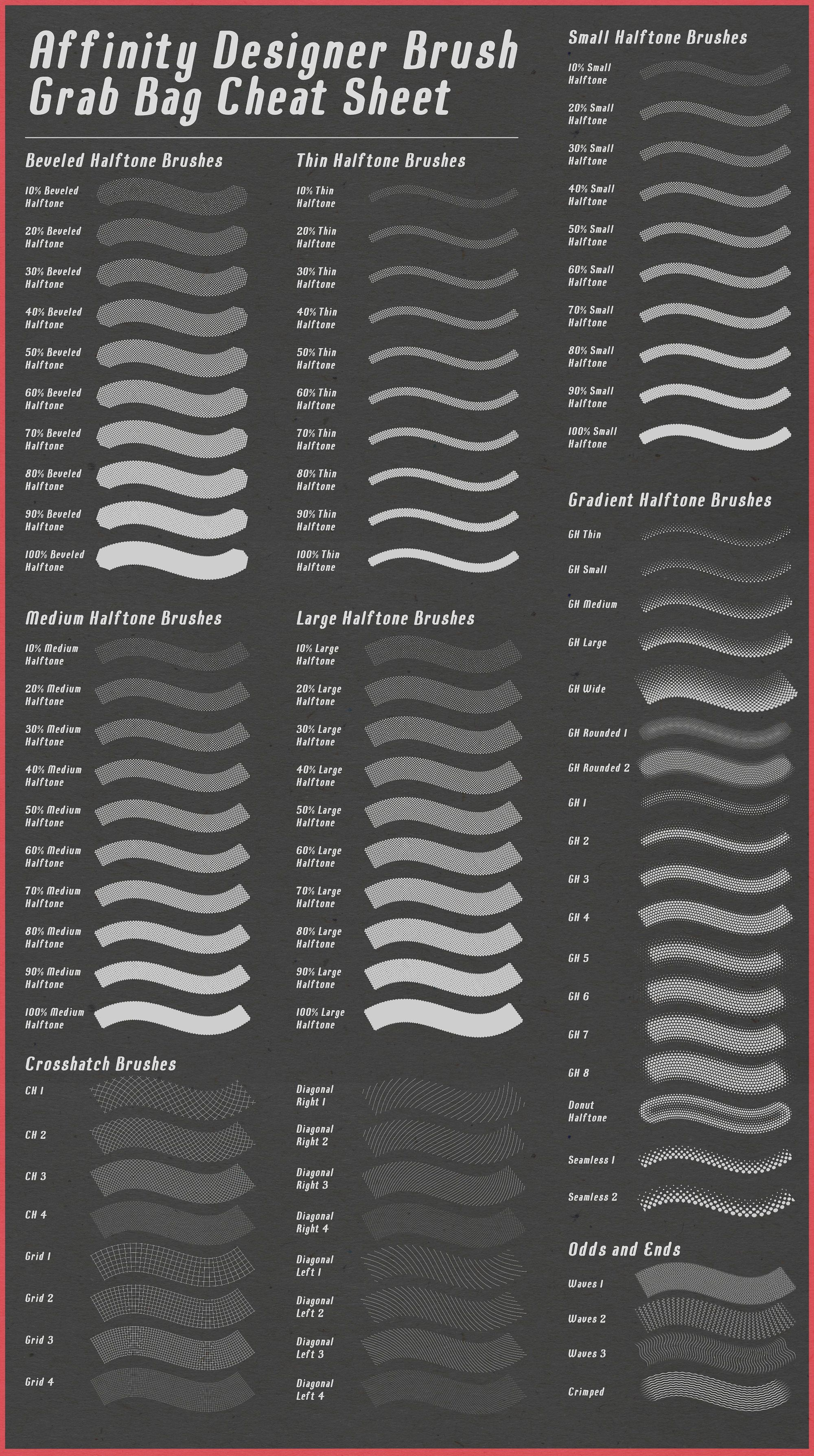 Affinity Designer Brush Grab Bag #depth#shadows#texture#ends