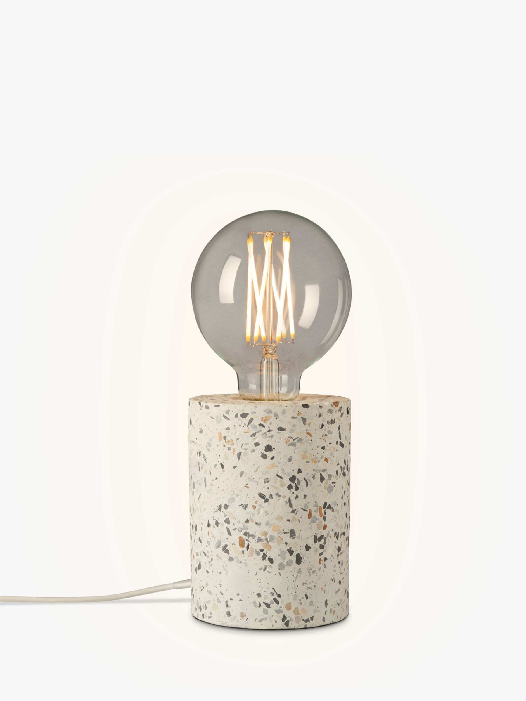 House by John Lewis Terrazzo Bulbholder Table Lamp, White
