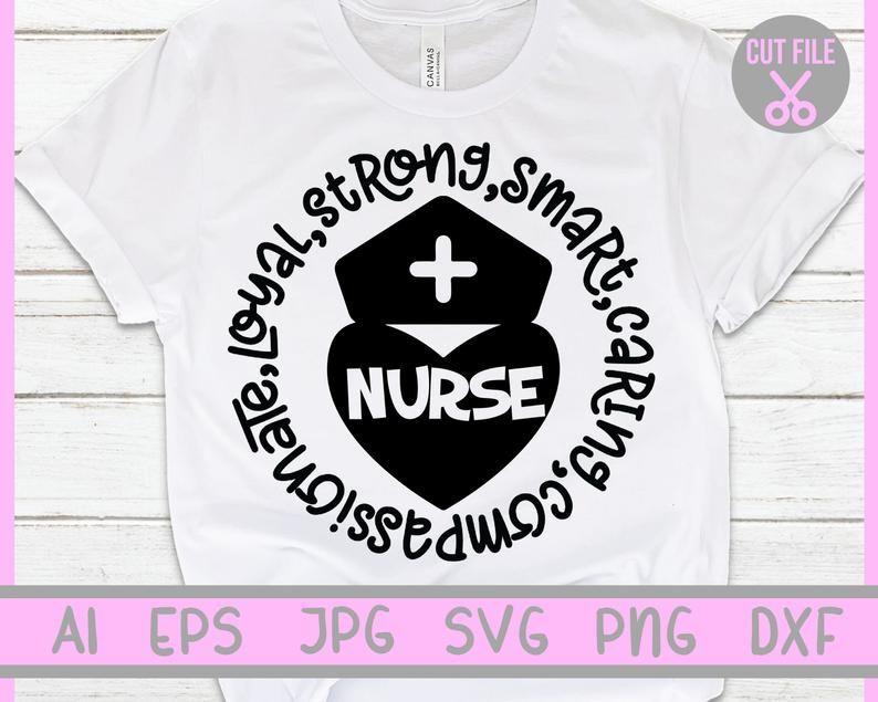 Download Nurse svg, Nurse strong, smart, caring, compssionate ...