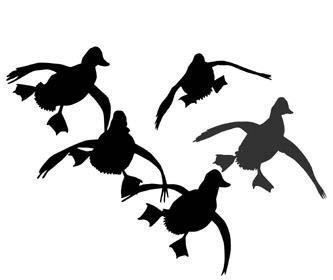 Hunting silhouette duck hunting decal sticker 02 vinyl for Duck hunting mural