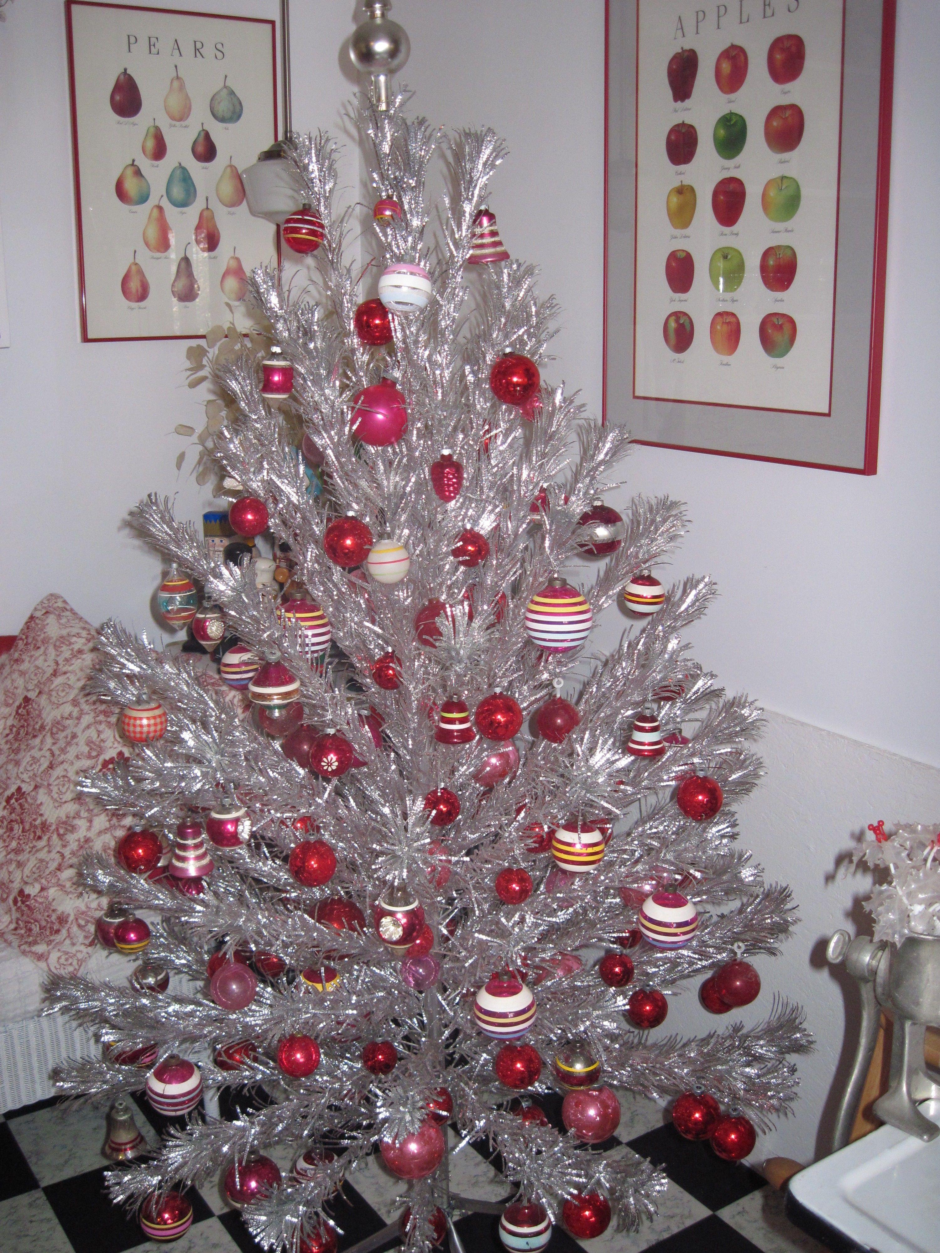 Favorite Christmas decoration - my vintage aluminum tree ...