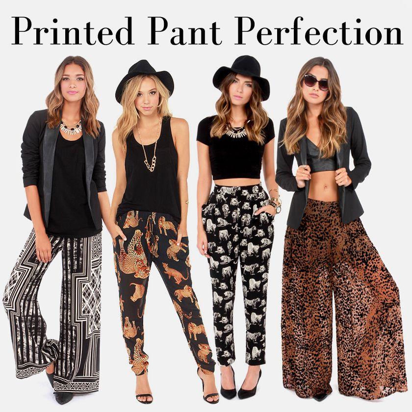 Printed Pants via lulus.com