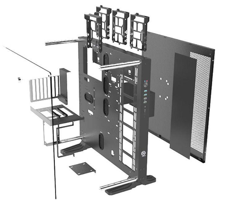 Thermaltake Core P5 Atx Wall Mount Chassis Cores Computador