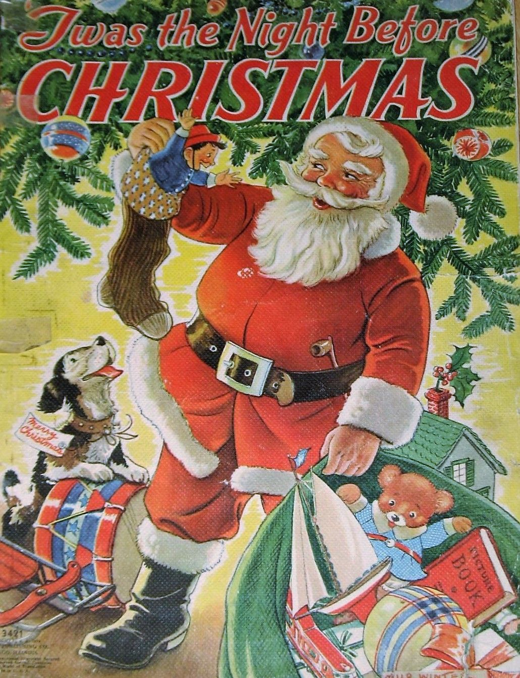 1939 childrens book twas the night before christmas the
