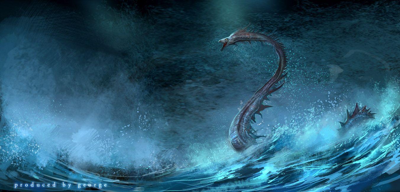 Fantasy Monsters Sea Wallpaper 672916 Wallbase Cc Sea Monsters Mythical Monsters Fantasy Monster