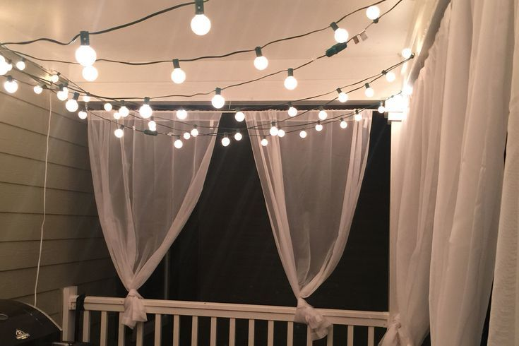 Apartment Balcony Decorating Diy String Lights
