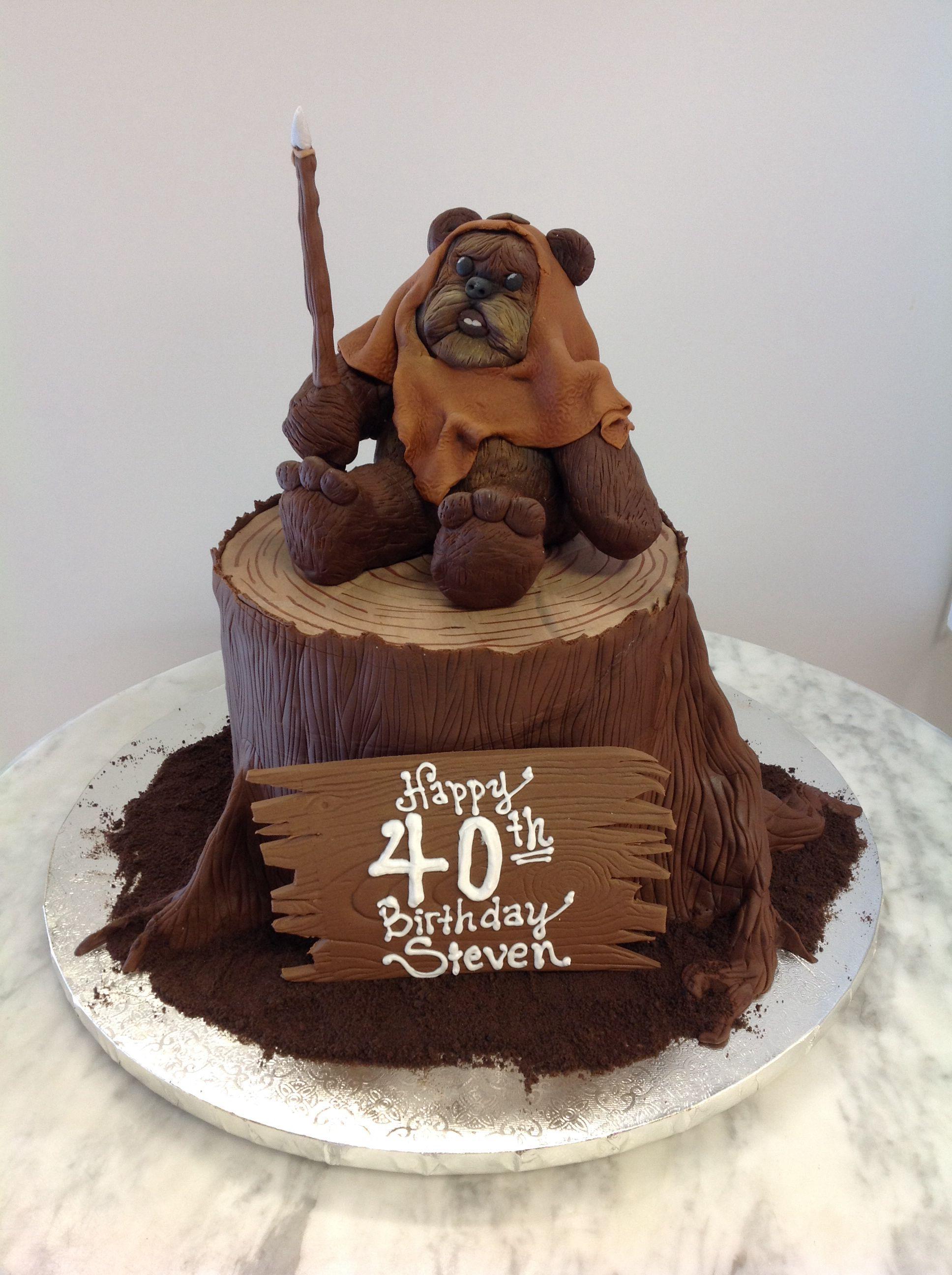 Star Wars Ewok cake!