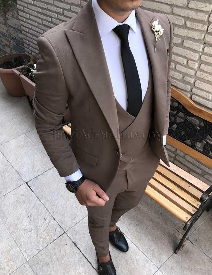 2292619d58bd7 İtalyan stil çapraz yelekli likralı erkek takım elbise T1737 | 2017 ...