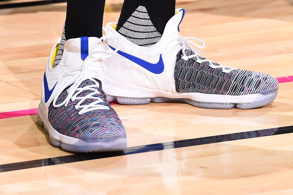 adeba40f4275 Kevin Durant Laced Up The Nike KD 9 Multicolor In Vegas Last Night ...