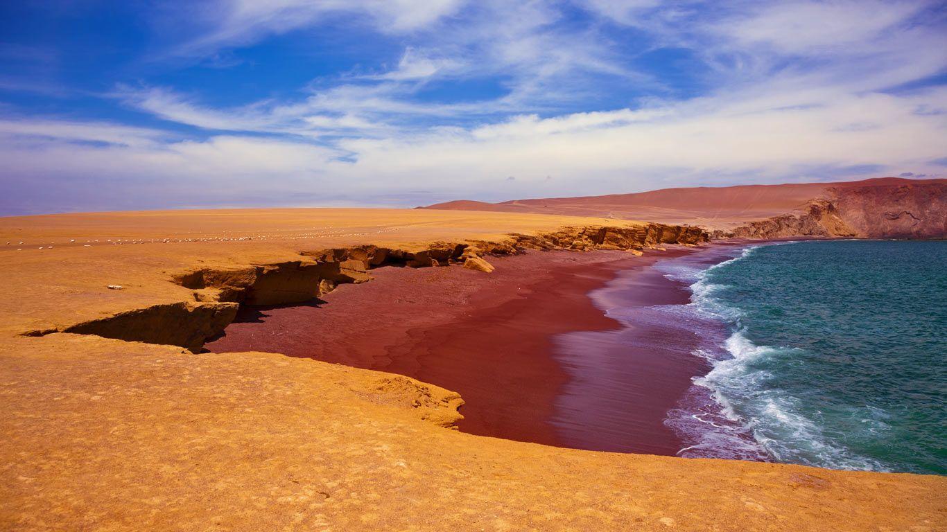 Playa Roja in Paracas National Reserve, Peru (© Istvan Kadar Photography/Getty Images)