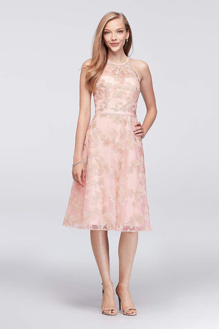 View Vintage Halter High Neck Bridesmaid Dress at David\'s Bridal ...
