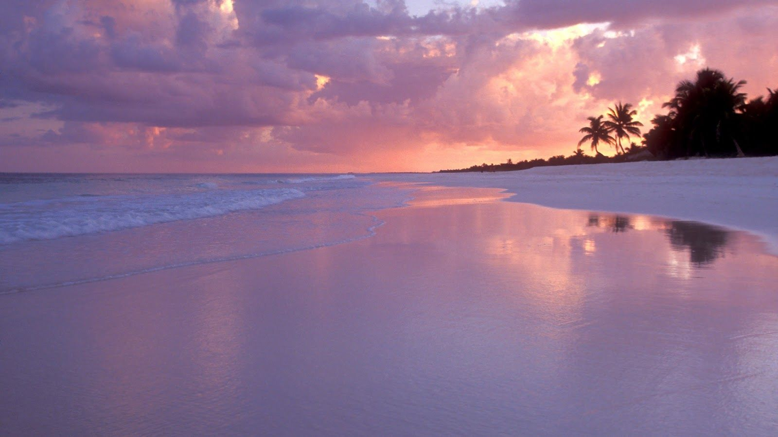 Colorful Beach Sunset In Cancun Mexico Wallpaper Cancun Beach Cancun Beaches Vacation Spots Beautiful Beaches