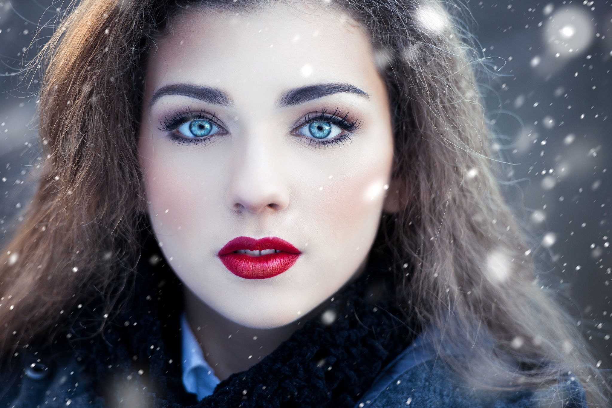 Double nose piercing both sides  Winter portrait by Tijana Morača on px  My favourite potraits