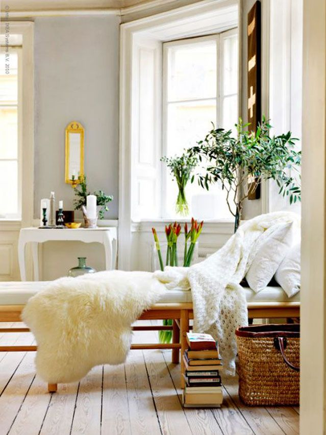 Sheep skin truly add a special touch in a space if you know how to use them.
