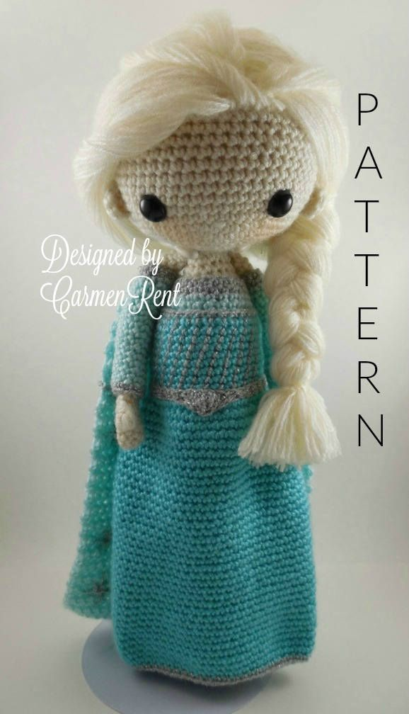 Elsa Amigurumi Doll Crochet Pattern Pdf By Carmenrent On Etsy