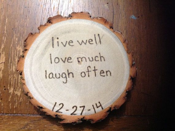 50 Rustic Wedding Coaster Favors Live Well Love Much Laugh Often Date Of Your This