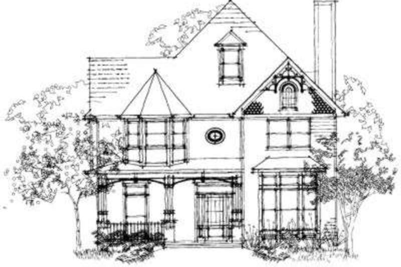 Victorian Style House Plan - 5 Beds 3.5 Baths 2686 Sq/Ft Plan #325-225 Exterior - Front Elevation - Houseplans.com