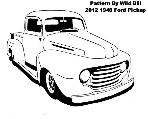 1948 ford pickup  chopped  - transportation
