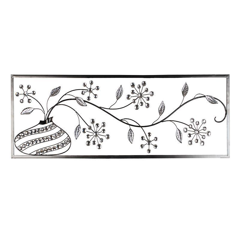 Abstract Floral Metal Wall Decor, Multicolor