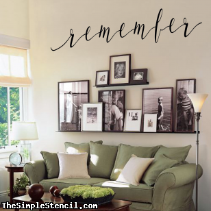 remember | Word Art Wall Decal images
