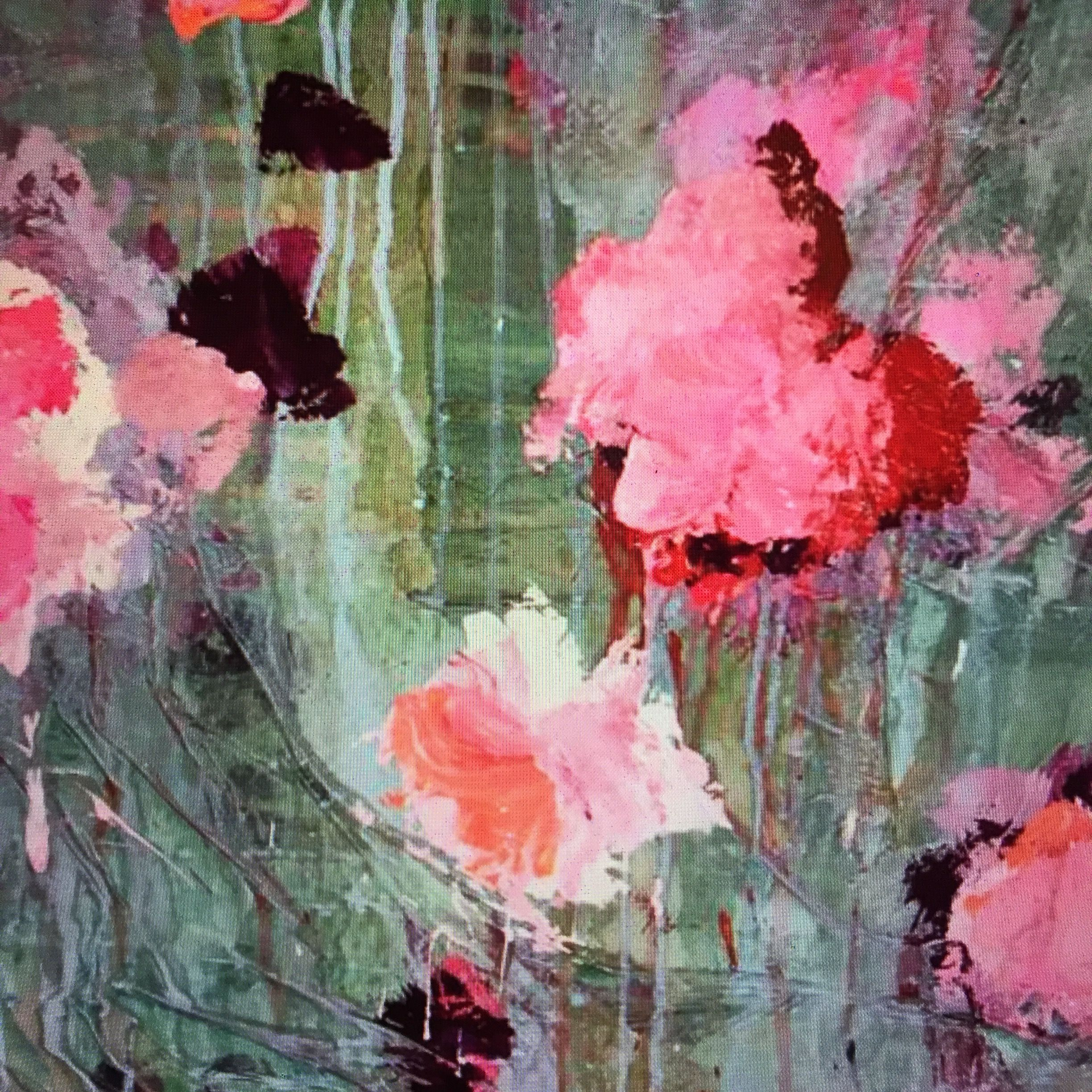 ...abstract art by sonja blaess...petit jardin...2016....