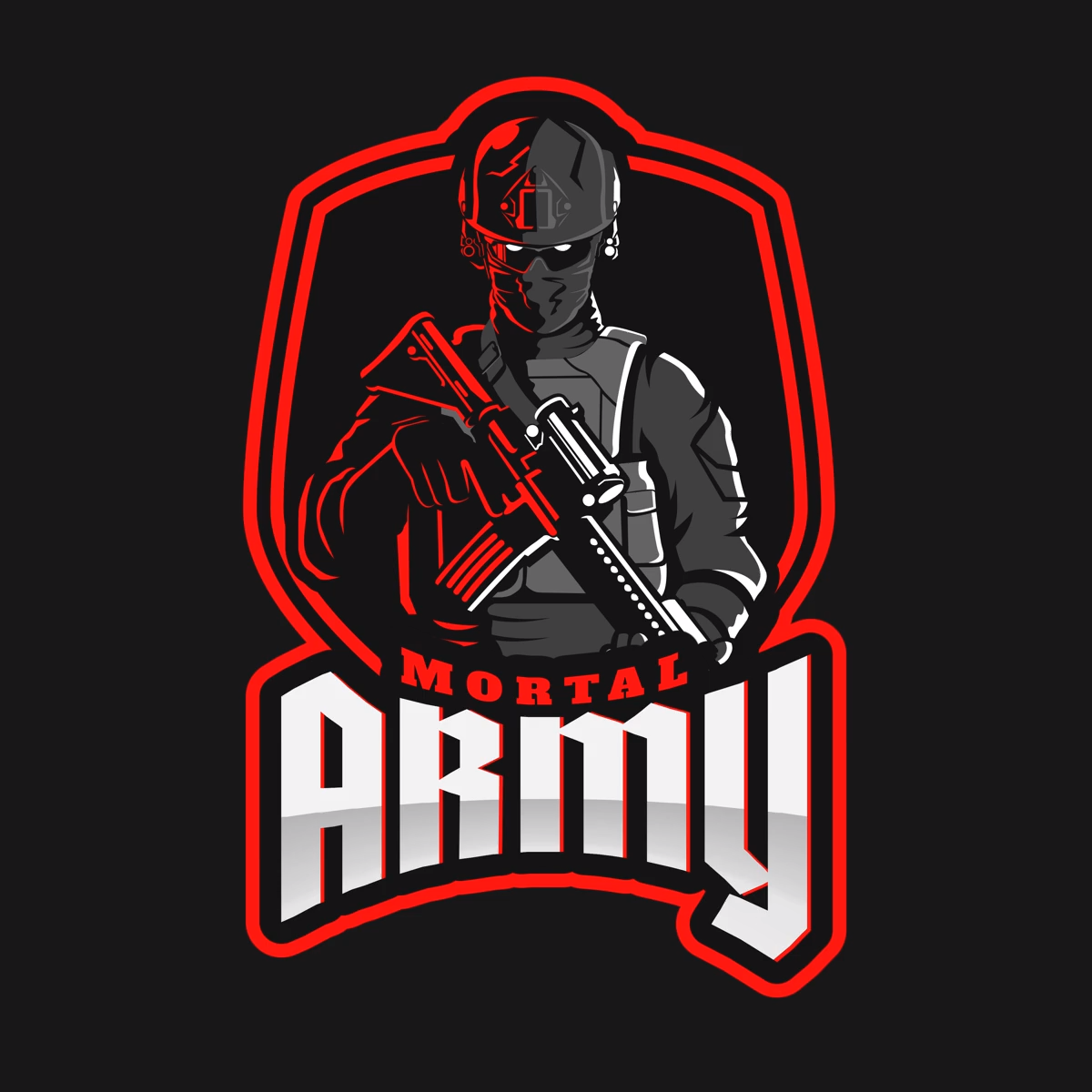 Placeit Counter Strike Inspired Logo Maker With A Menacing Character Illustration Video Video In 2020 Character Illustration Logo Design Inspiration Graphics Logo Maker